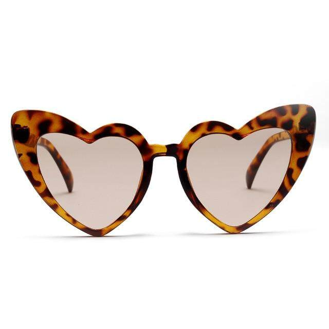 keqinbhd Love Heart Shape Sunglasses Women Vintage Cat Eye Sun Glasses Eyewear 2019 Fashion Brand Ladies Red Pink Clear Lens Shades