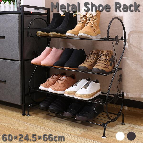4 Tier 16 Pairs Detached Metal Shoe Rack Stand Storage Shelf Cabinet Organiser 60cm×24.6cm×66cm