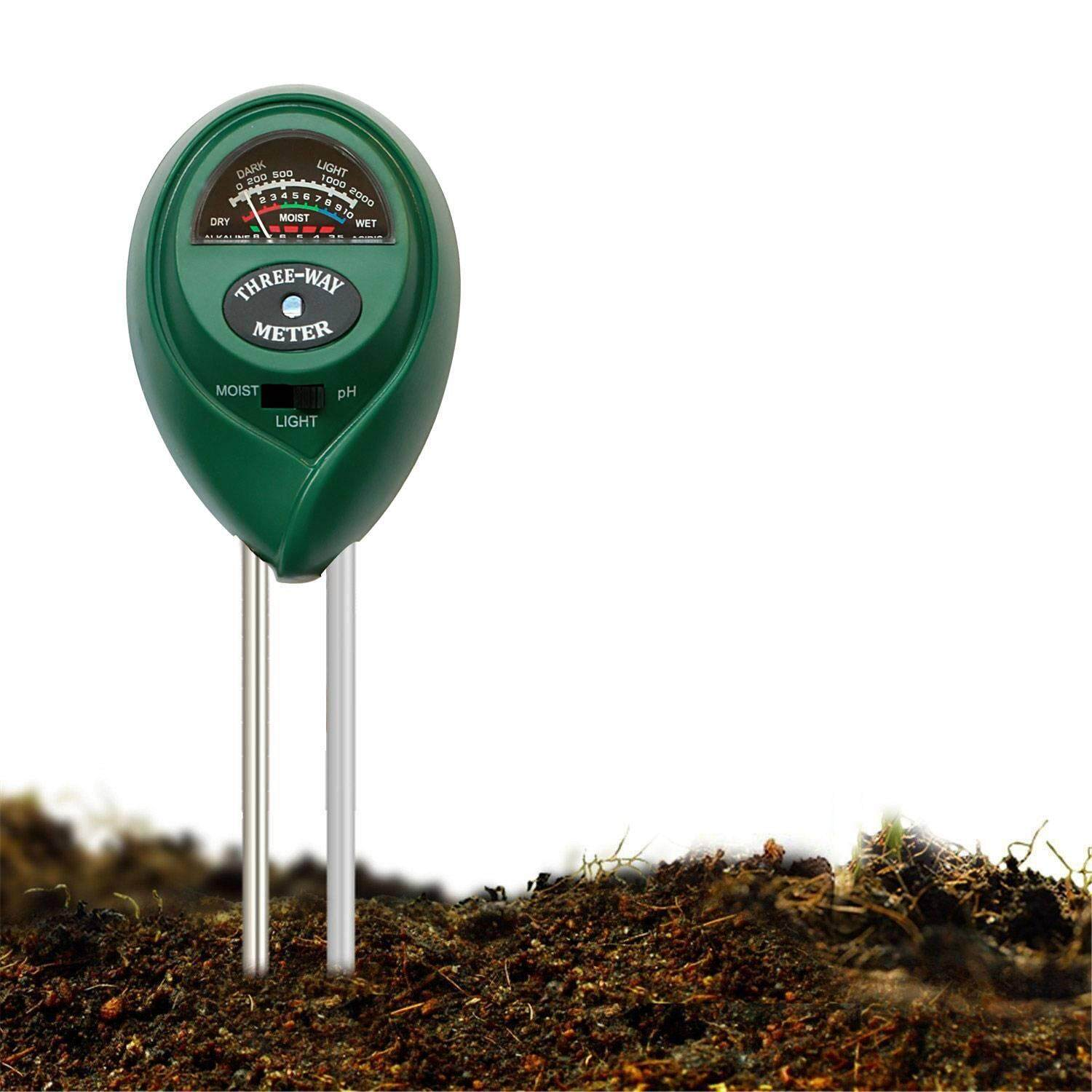 DS-Mart Soil pH Meter, 3-in-1 Soil Test Kit For Moisture, Light & pH, A Must Have For Home And Garden, Lawn, Farm, Plants, Herbs & Gardening Tools, Indoor/Outdoors Plant Care Soil Tester (No Battery Needed)