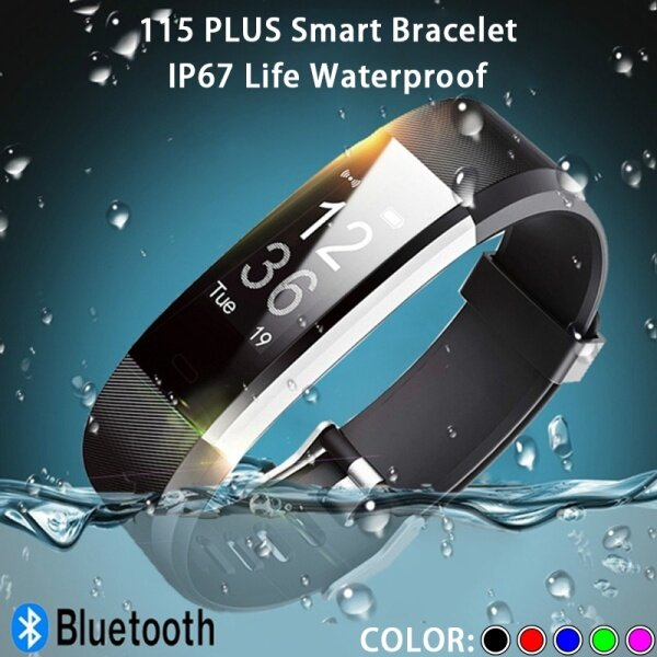 2021 new 115HR Plus smart watch sports activity fitness bracelet bluetooth smart wristband watch for iOS Android phone Malaysia