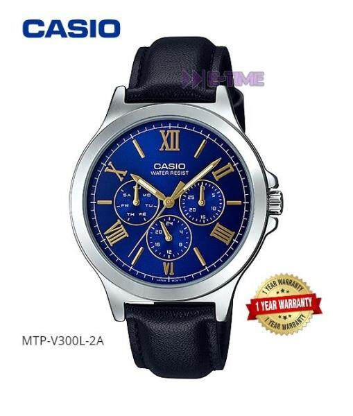 100% ORIGINAL CASIO MTP-V300L-2A LTP-V300L-2A2 LEATHER WATCH MTP-V300L LTP-V300L Malaysia