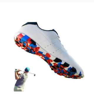 Máy Đánh Golf Mới YuChuan Giày Golf Nam, Giày Thể Thao Chống Trơn Trượt Màu Trắng Cho Người Chơi Golf Lén Đi Bộ Chạy Bộ Thoáng Khí Sang Trọng thumbnail