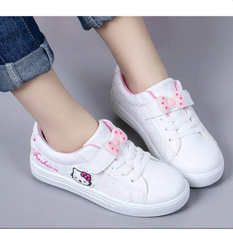 Kids Girls Sport Shoes Sneakers White Shoes By Full House001.