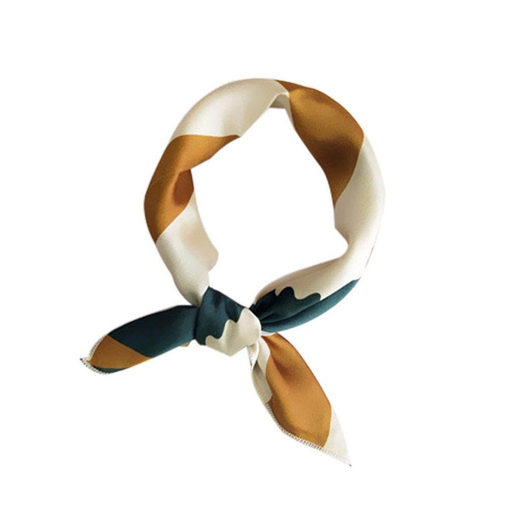 [สงสัย] ผ้าพันคอสี่เหลี่ยมจัตุรัสยางรัดผมผู้หญิง Elegant Vintage Vintage คอผ้าพันคอผ้าไหมสำหรับงานปาร์ตี้ By Wondering Accessories.