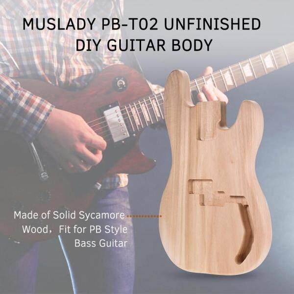 Muslady PB-T02 Chưa Hoàn Thành Đàn Guitar Điện Cơ Thể Sycamore Gỗ Trống Đàn Guitar Thùng Cho PB Phong Cách Guitar Bass Tự Làm Các Bộ Phận