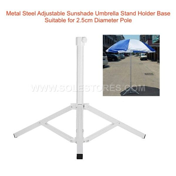Metal Steel Adjustable Sunshade Umbrella Stand Holder Base Suitable for 1.8cm 2.5cm 3.5cm Diameter Pole