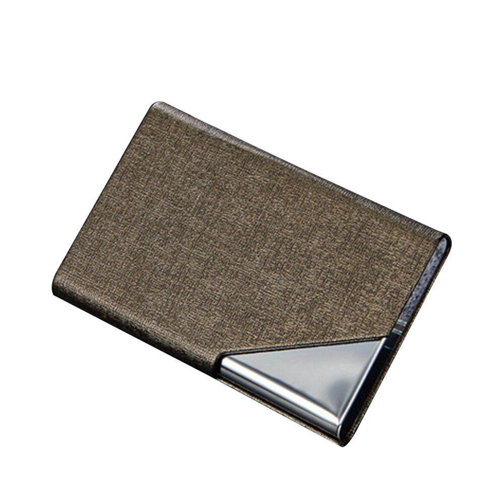 Onlook Business Name Card Holder Luxury Pu Leather & Stainless Steel Multi Card Case,business Name Card Holder Wallet Credit Card Id Case Holder For Men Women By Onlook.