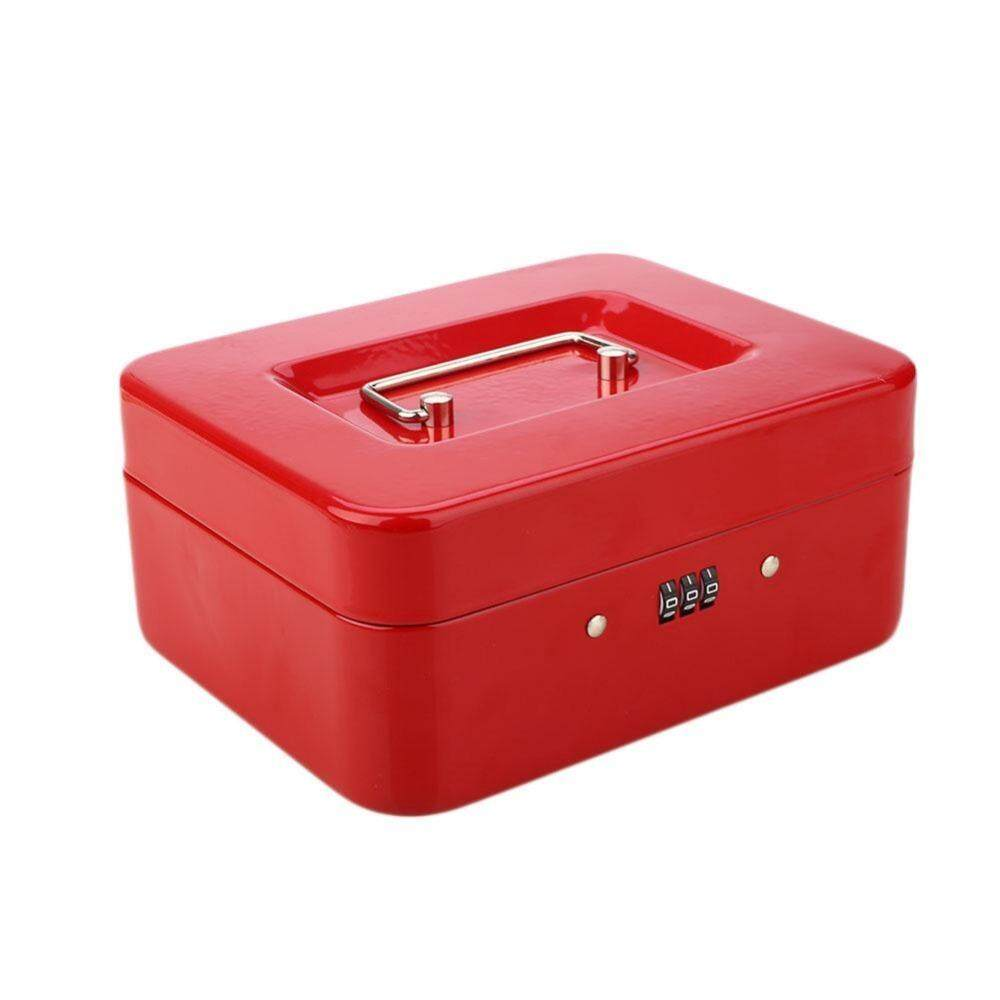 8Inch Portable Metal Safe Password Box Storage Security Box