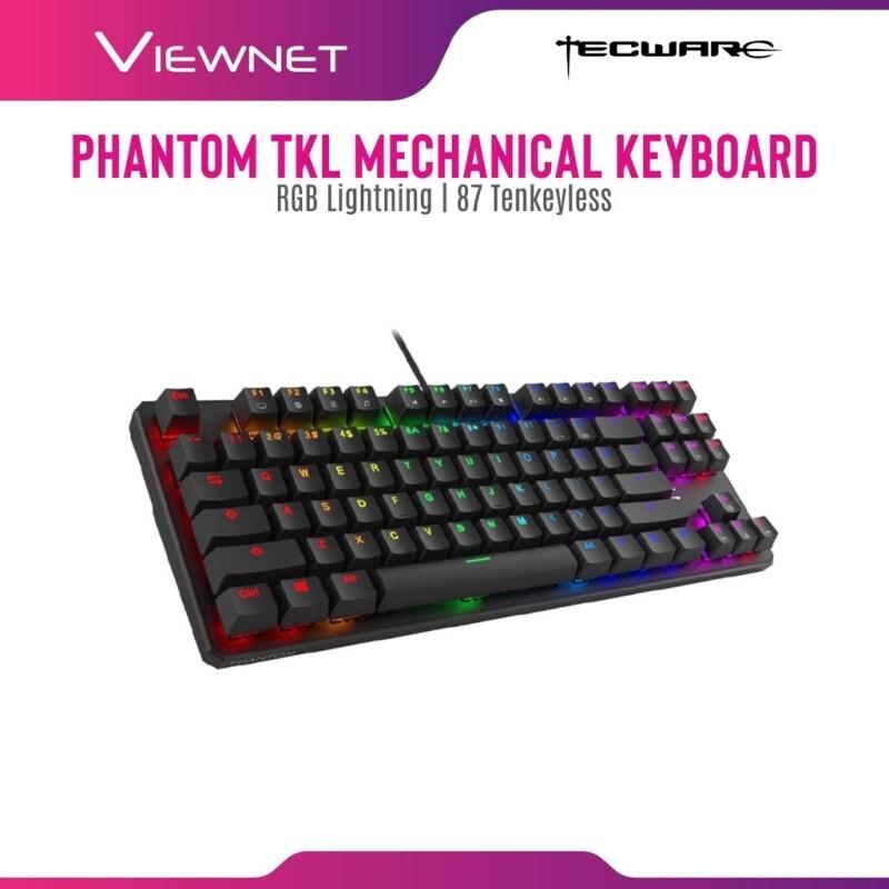 Tecware Wired Gaming Mechanical Keyboard Phantom 2020 TKL with RGB Lighting, 87 Tenkeyless, Outemu Mechanical Switch (Outemu Blue / Outemu Brown / Outemu Red Malaysia