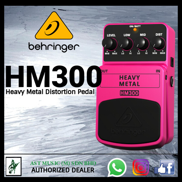 BEHRINGER HEAVY METAL HM300 Heavy Metal Distortion Effects Pedal Malaysia