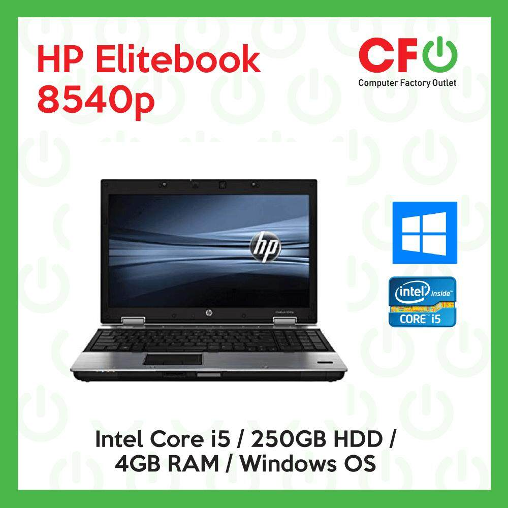 HP EliteBook 8540p / Intel Core i5 / 4GB RAM / 250GB HDD / Windows OS Laptop / 1 Month Warranty (Factory Refurbished) Malaysia