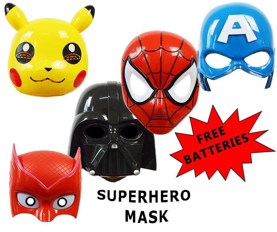 Led Battery Operated Superhero Mask/topeng By Kiddyhouz.