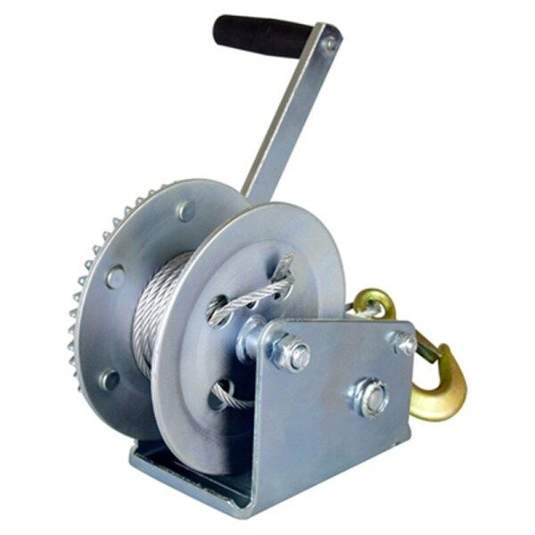 2000lbs-3000LBSx8/15/30m Boat Truck Auto Self-Locking Hand Manual Galvanized Steel Winch Hand Tool Lifting Sling