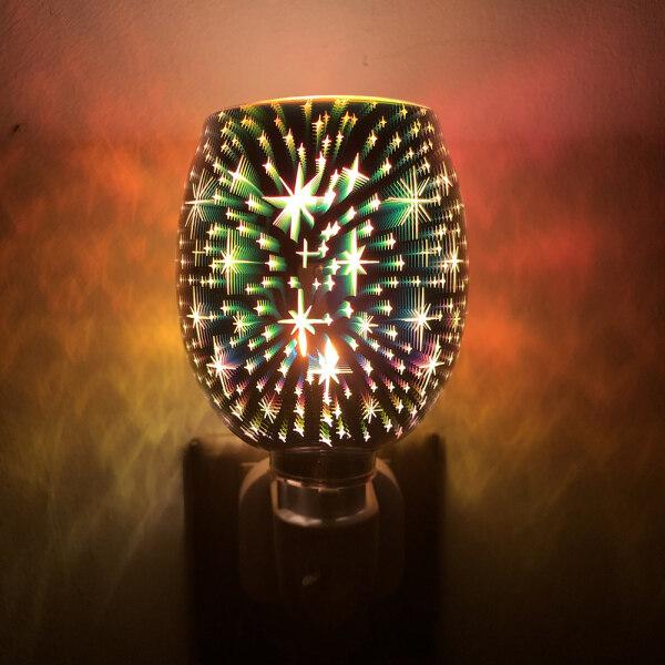 Khuếch Tán, Dầu Trong Sáp, Đèn Phích Cắm Làm Ấm Bằng Điện Có Đèn LED Làm Nóng Khảm Thơm Gypsophila Sáp Burner