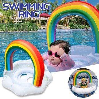 Miễn Phí Vận Chuyển, JIPING Ghế Mây Cầu Vồng Sequin Cho Trẻ Em Phao Bơi Cho Trẻ Sơ Sinh thumbnail