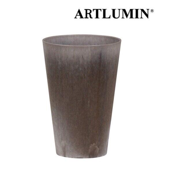 Artlumin Decorative Flower Vase / Pasu Bunga Tinggi Hiasan / Indoor / Lightweight / Modern Metallic Look / Claire D17 H25