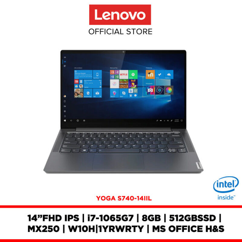 Lenovo Notebook Laptop Yoga S740-14IIL Iron Grey 81RS00AUMJ 14FHD IPS/8GB/512GB/MX250/W10H/OFF.H&S/1YRWRTY/FREE:BACKPACK+2YRS WRTY Malaysia