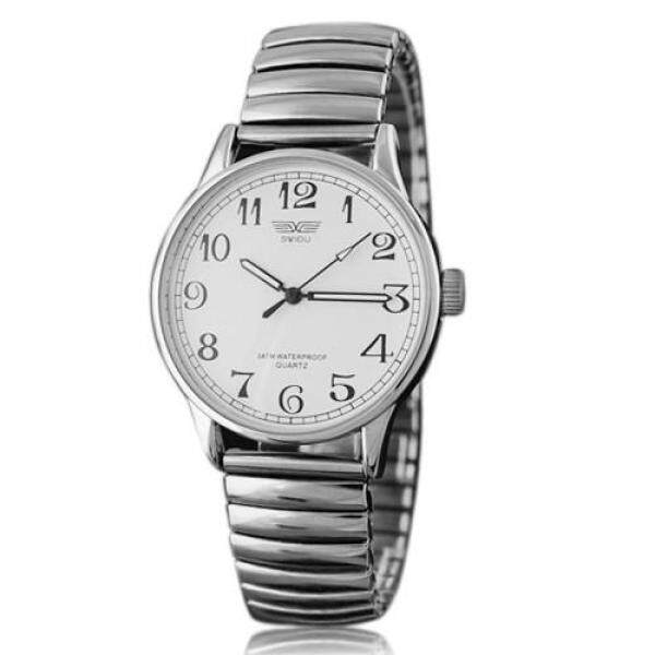 Bluelans® Alloy Stretchable Wrist Watch White For Women Malaysia