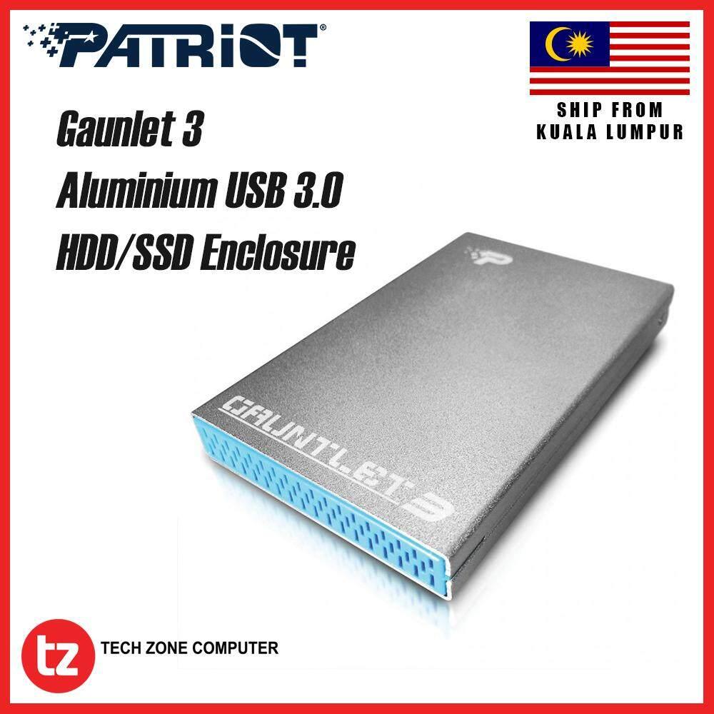 Patriot Gaunlet 3 Aluminum USB 3.0 SATAIII/ II/ I SSD HDD Enclosure