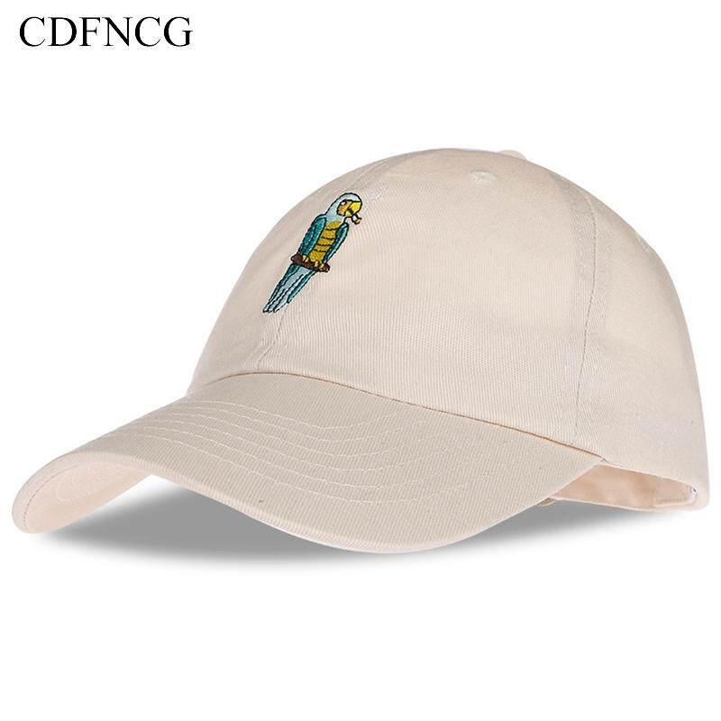 huge discount 30566 bd62d 2019 Fashion summer autumn Casual popular pop animal Cartoon Embroidery  Parrot Cotton Baseball Cap Sun Dad