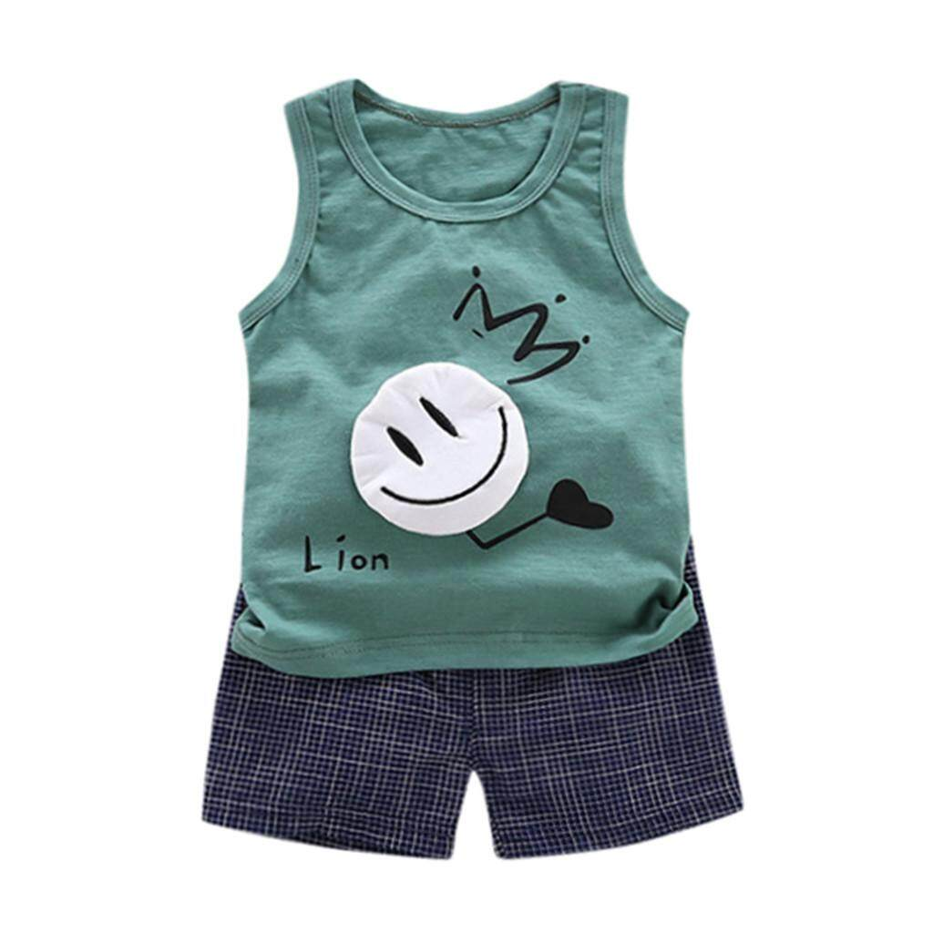 47deaf9a Myapple Toddler Kids Baby Boy Girl Cartoon T shirt Tops Shorts Pants 2pcs  Clothes Set