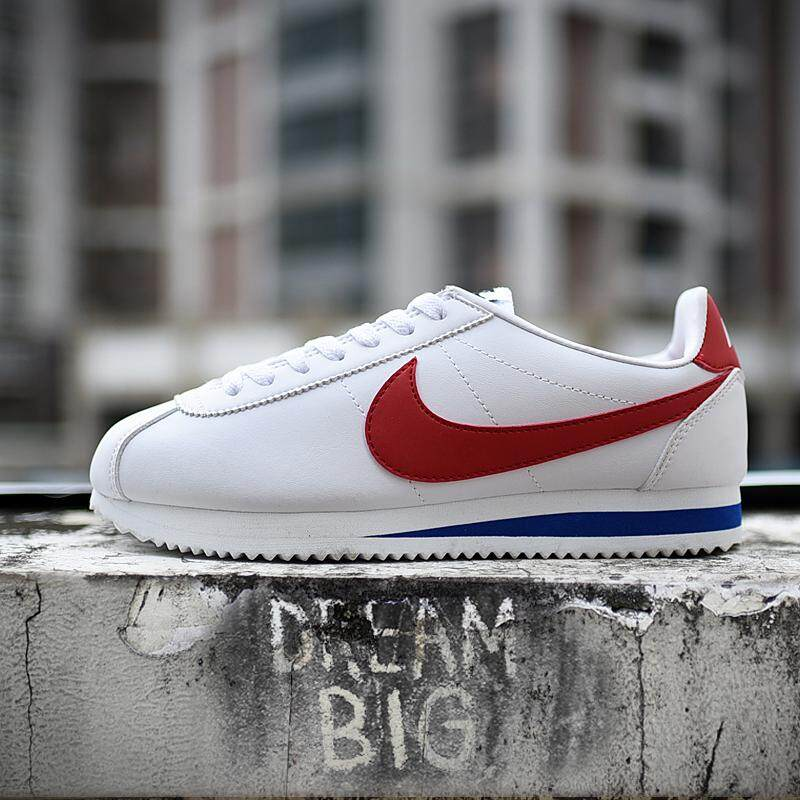 brand new 2b25a 71aa3 Nike men s shoes women s shoes classic fashion trend casual shoes Cortez  Leather white red men and