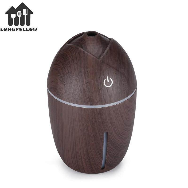 200ml USB Air Humidifier Corn Shape Wood Grain Mini Mist Maker with LED Night Light Singapore