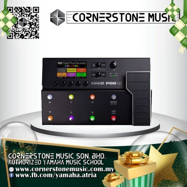 Line 6 Guitar Effect Processor Pedal POD-GO ( PODGO / POD GO ) Line6 Multi-Effects Floor Processor - B / Black Cornerstone Music Malaysia