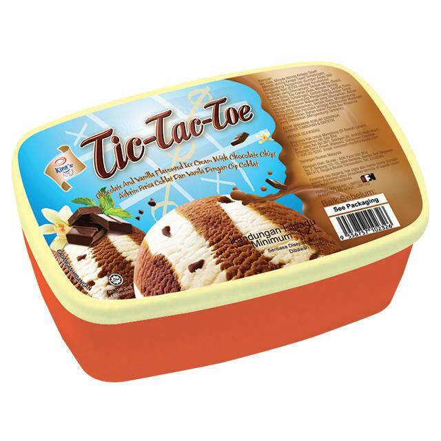 (KL & Selangor Delivery Only) F&N Kings Tic-Tac-Toe Ice Cream 1.2L