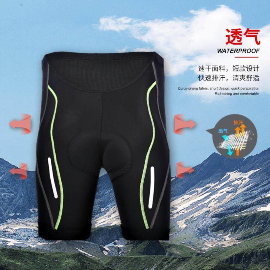 Male Summer Quick-Drying Perspiration Breathable Silicone Pad Tight Bike Riding Five Shorts By Wellsunny.