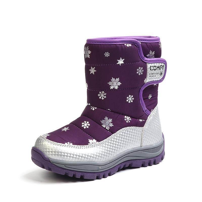 Giá bán QQ Mới Trai và Bé gái giày Bé dày bông ấm áp chống trượt trẻ em cotton shoes【READY CỔ- cao Quality】
