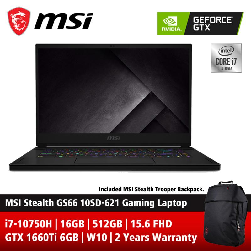 MSI Stealth GS66 10SD-621 15.6 FHD 144Hz Gaming Laptop ( i7-10750H, 16GB, 512GB SSD, GTX166Ti 6GB, W10 ) Malaysia