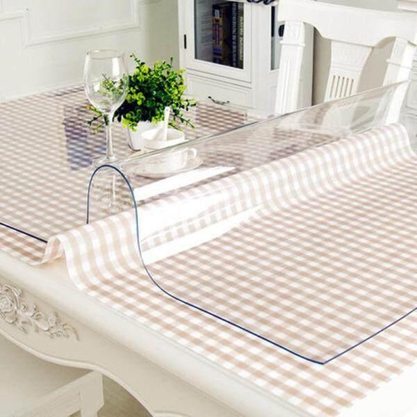 Không Thấm Nước PVC Khăn Trải Bàn, Bảng Vải, Thảm Trải Bàn Trong Suốt Vải Dầu Họa Tiết Nhà Bếp Khăn Trải Bàn Vải Mềm Thủy Tinh 1.0Mm