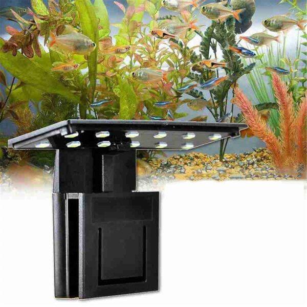 Đèn Led Bể Cá Siêu Mỏng 50 #5W Đèn Chiếu Sáng 12 Bóng Kẹp Siêu Sáng Cho Bể Cá Đèn Dưới Nước