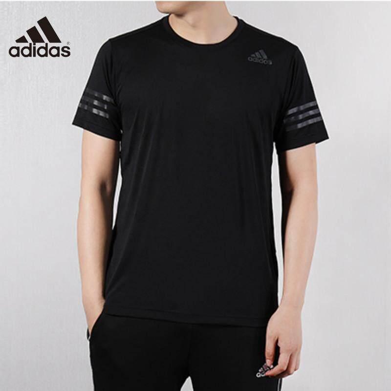 Adidas ชาย 2019 ฤดูร้อนใหม่ Breathable เสื้อยืดวิ่งสั้นแห้งกีฬาเสื้อยืด GJ0320