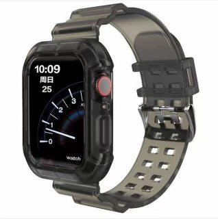 Dây Đeo Thể Thao Mới Nhất Cho Apple Watch Band Series 6 1 2 3 4 5, Silicone Trong Suốt Dây Đeo Iwatch 5 4 Dây Đeo 38Mm 40Mm 42Mm 44Mm thumbnail