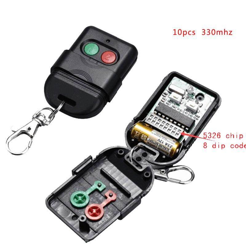 10pcs Singapore malaysia 5326 330mhz dip switch auto gate duplicate remote control key fob