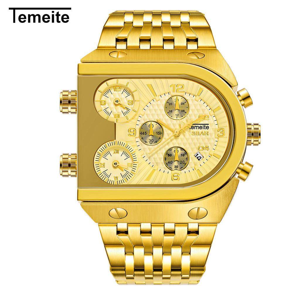 TEMEITE Men Fashion Metal Watch Waterproof Business Quartz Wrist Watch Malaysia