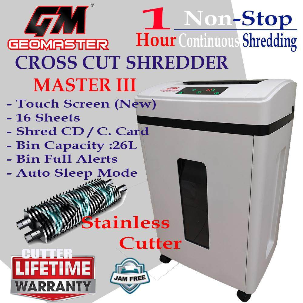 POWERFUL MASTER III HEAVY PAPER SHRDDER - NON STOP 60 MINUTES WITH LARGE BIN