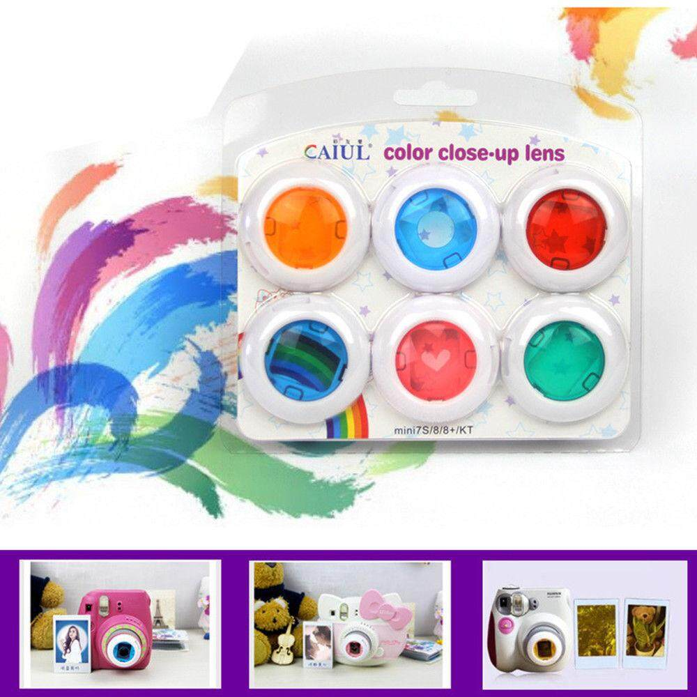 6 Colour Close-Up Lens Set For Fujifilm Instax Mini 7s 8 8+ 9 Film Cameras By Misuta.