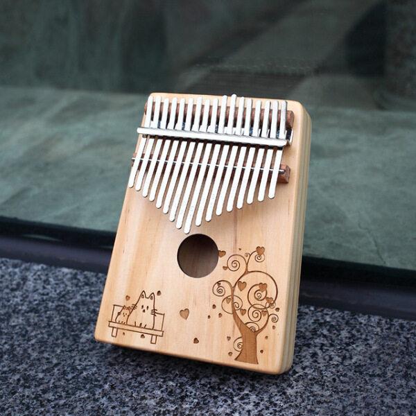 Insound 17 Kunci Kayu Kalimba Thumb Piano Jari Rebana Instrumen dengan Aksesori Malaysia