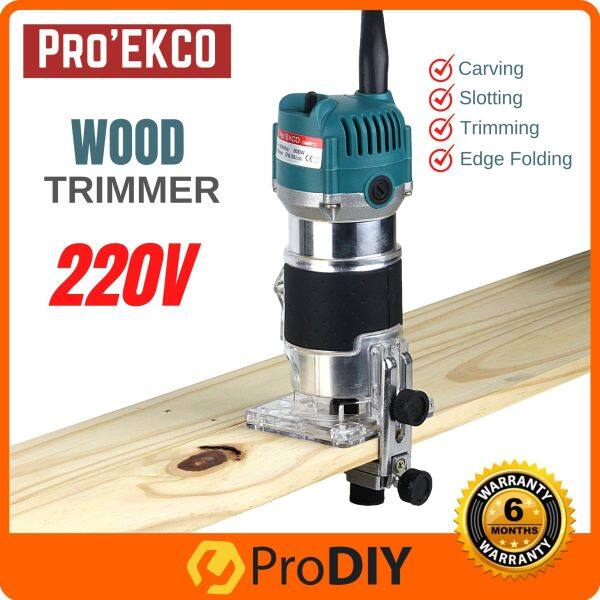 ProEkco GMR11 220V Electric Hand Wood Trimmer Router Carving Slotting Woodworking Power Tools Pemotong Kayu