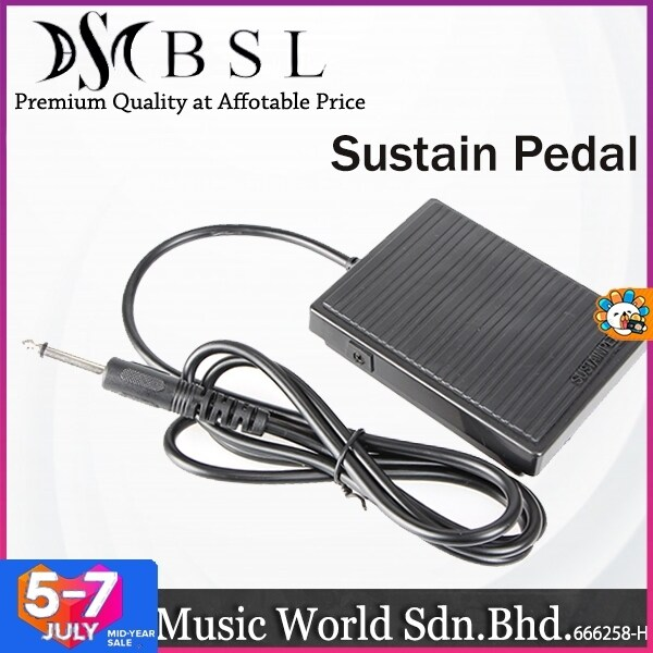 BSL Square Sustain Foot Pedal for Casio Yamaha Roland and Korg Keyboard and Digital Piano Malaysia