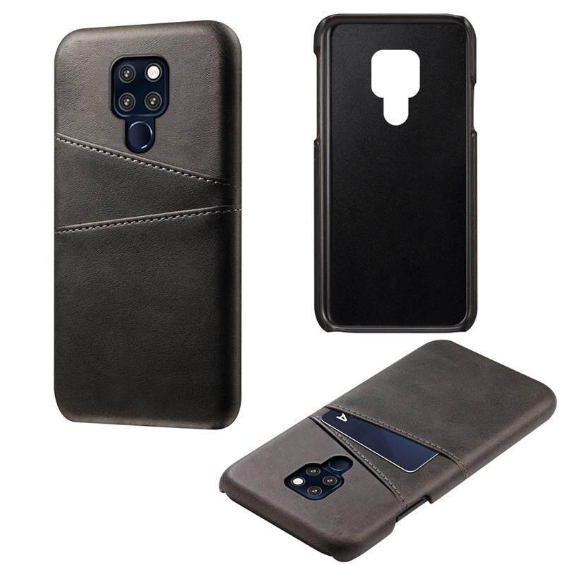 Phone Case for Huawei Mate 20 Back Case Calf Grain PU Leather TPU Phone Case with
