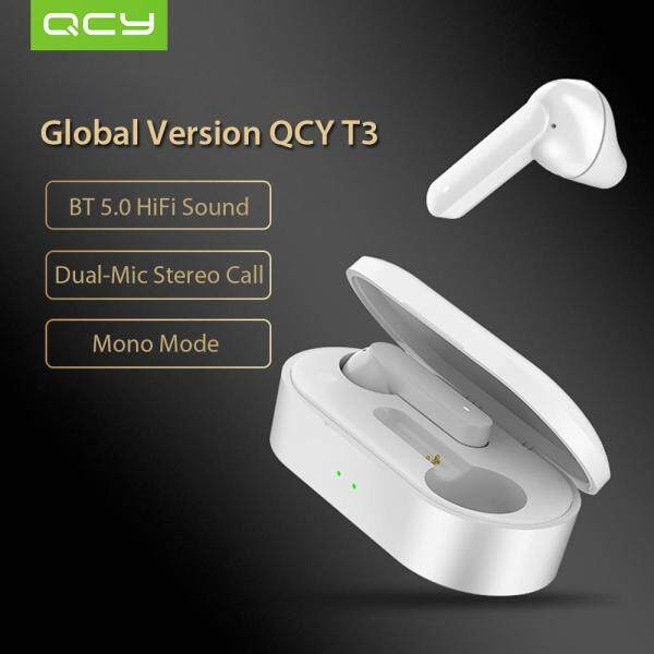 Global Version Xiaomi QCY T3 BT Wireless TWS Earbuds BT 5.0 Touch Control True Wireless Earphones with Dual Mic Stereo Call Sports Headphones 3D Stereo Headset Singapore