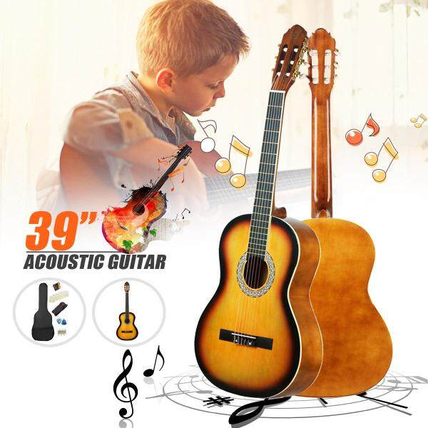 39 inch Classical Acoustic Guitar Music Instrument 3920 Sunset Yellow Beginners - Malaysia