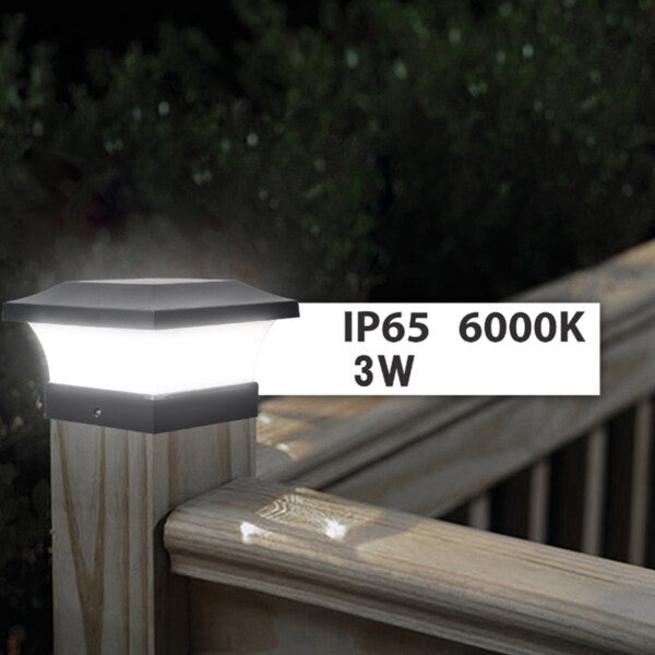 Free Shipping]Lifly Solar Post Cap Light Solar Pillar Light Outdoor Column Lamp Waterproof Solar LED Lamp