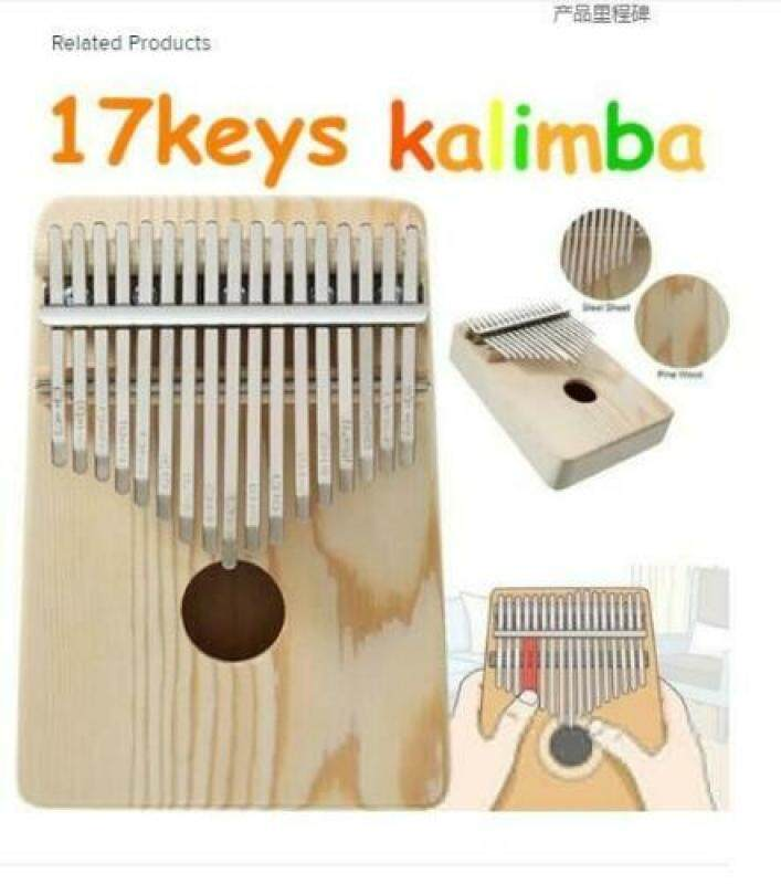 【Kalimba】【CNY Gift】【Children Gift】17 Keys Kalimba African Solid Mahogany Wood Thumb Piano Finger Percussion Gifts Malaysia