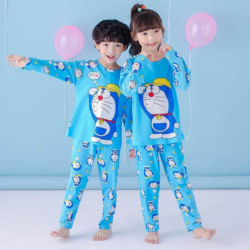 a86bdc130 [S&S] HXD Sleepwear Kids - Unisex Cartoon Pyjamas/Pajamas - Doramon with Hat