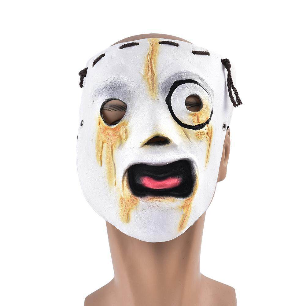 yiyunshop Halloween Slipknot Mask Horror Realistic Latex Ghost Face Mask With Hemp Rope Cosplay Carnival Costume Party Decoration Props